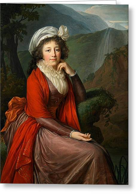 Maria Theresia Bucquoi Greeting Card by Elisabeth Louise Vigee Lebrun