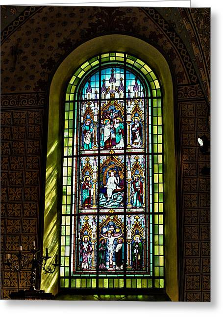 Gospel Greeting Cards - Maria window south Greeting Card by Leif Sohlman