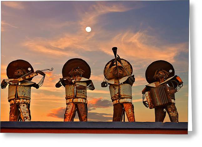 La Paz Greeting Cards - Mariachi Band Greeting Card by Christine Till