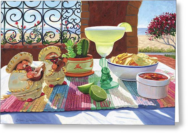 Cocktail Greeting Cards - Mariachi Margarita Greeting Card by Steve Simon