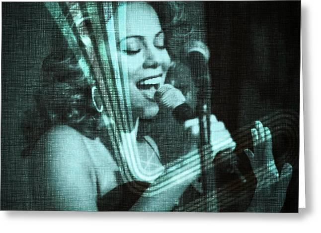 Mariah Carey - Beautiful Alchemy Greeting Card by Absinthe Art By Michelle LeAnn Scott