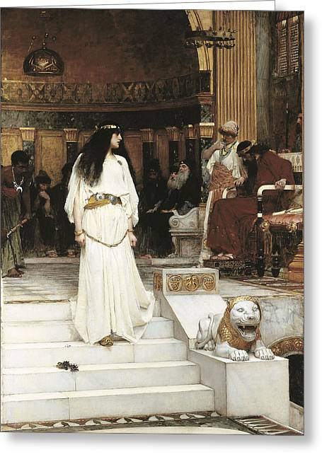 Salome Greeting Cards - Mariamne, 1887 Oil On Canvas Greeting Card by John William Waterhouse