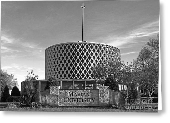 Liberal Greeting Cards - Marian University Dorcas Chapel Greeting Card by University Icons