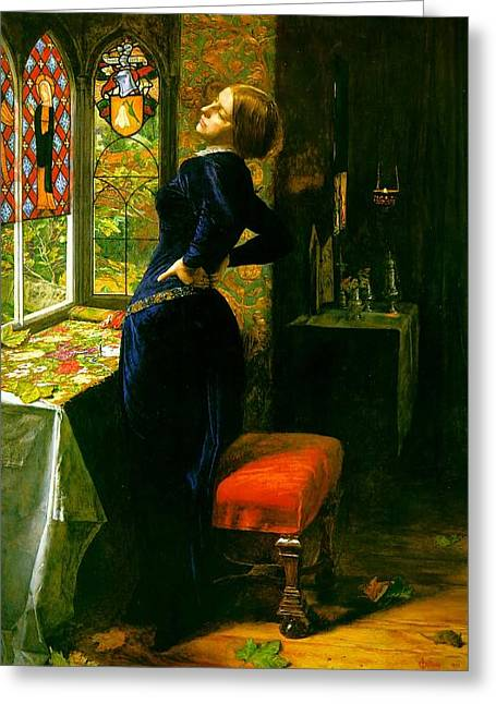 Mariana Greeting Cards - Mariana in the Moated Grange 1851 Greeting Card by Philip Ralley