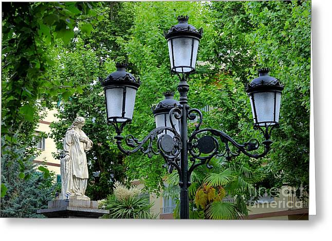 Mariana Pineda Square Greeting Card by Guido Montanes Castillo