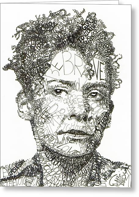 Pearls Drawings Greeting Cards - Marianne Pearl Greeting Card by Michael  Volpicelli