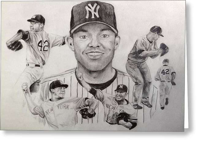 Mariano Rivera Greeting Cards - Mariano Rivera Greeting Card by Chelsea Simunek
