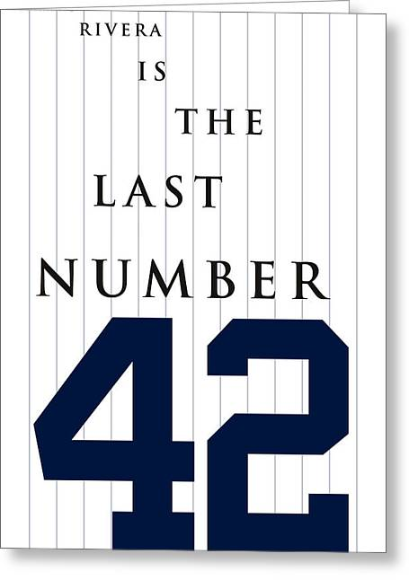 Bronx Bombers Greeting Cards - Mariano Rivera is the last number 42 Greeting Card by Ron Regalado