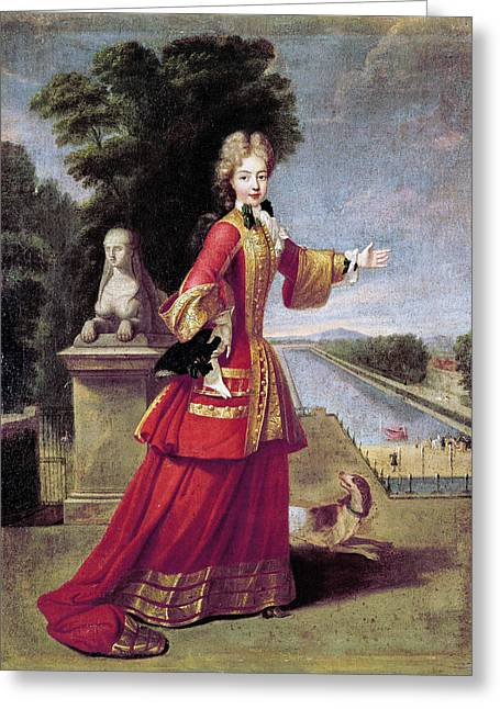 Marie Adelaide Of Savoy (1685-1712) Greeting Card by Granger