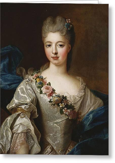 Marie Anne De Bourbon Greeting Card by Pierre Gobert