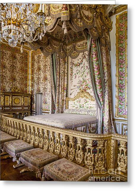 Xvi Greeting Cards - Marie Antoinette Bedroom Greeting Card by Brian Jannsen