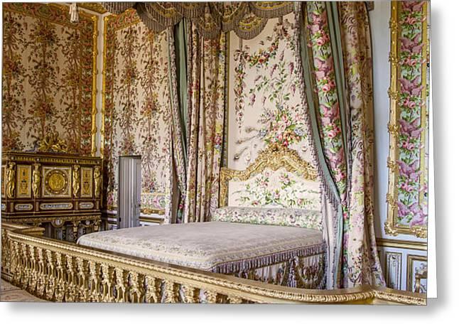 Marie Antoinette Bedroom Greeting Card by Brian Jannsen