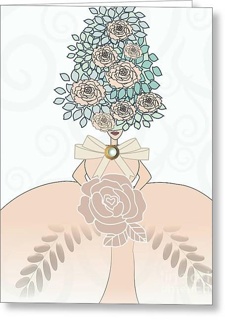 Erte Greeting Cards - Marie Antoinette II Greeting Card by Mira Dimitrijevic