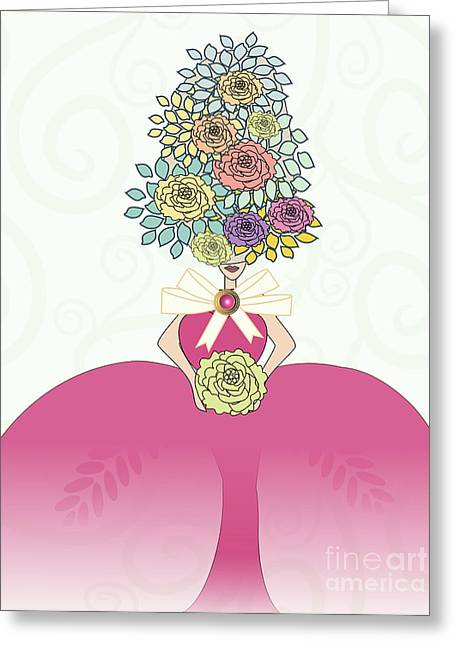 Erte Greeting Cards - Marie Antoinette IV Greeting Card by Mira Dimitrijevic