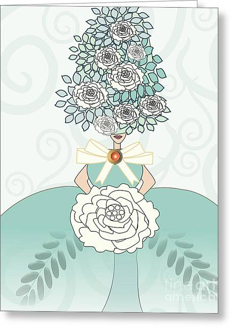 Erte Greeting Cards - Marie Antoinette Greeting Card by Mira Dimitrijevic