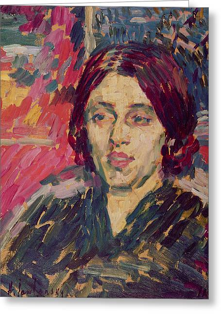 Physicist Greeting Cards - Marie Curie Greeting Card by Alexej von Jawlensky