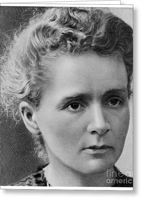 Innovator Greeting Cards - Marie Curie Greeting Card by Mary Evans