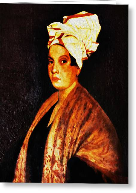 Marie Laveau - New Orleans Witch Greeting Card by Bill Cannon