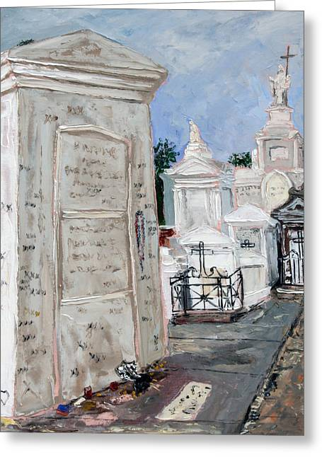 Cemetary Paintings Greeting Cards - Marie Laveau Greeting Card by Robert Sutton