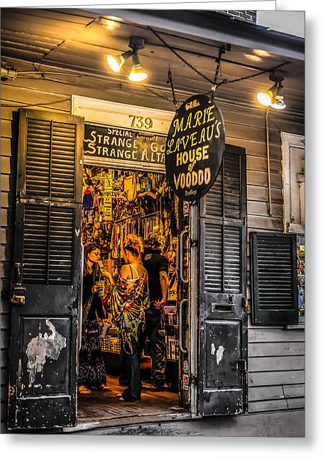 New Greeting Cards - Marie Laveaus House of Voodoo Greeting Card by Chris Smith