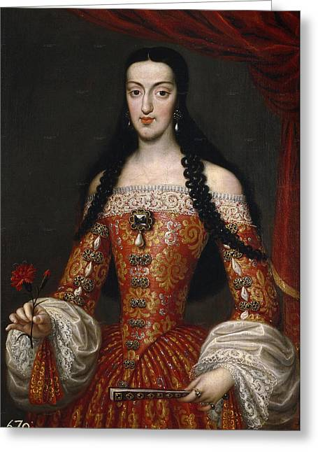 Marie-louise Greeting Cards - Marie-Louise of Orleans. Queen of Spain Greeting Card by Jose Garcia Hidalgo