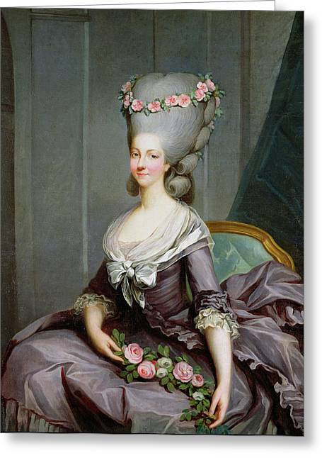 Marie-therese De Savoie-carignan 1749-92 Princess Of Lamballe Oil On Canvas Greeting Card by Antoine Francois Callet