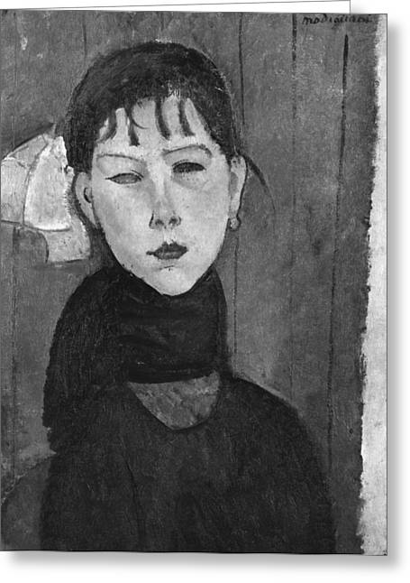 Modigliani Greeting Cards - Marie Young Woman Of The People Greeting Card by Amedeo Modigliani