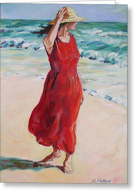 Mariela On Bonita Beach Greeting Card by Herschel Pollard