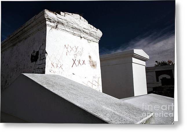 Headstones Greeting Cards - Maries Tomb Greeting Card by John Rizzuto