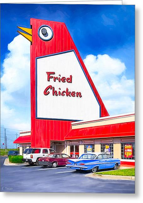 Americana Pictures Greeting Cards - Mariettas Big Chicken Greeting Card by Mark Tisdale