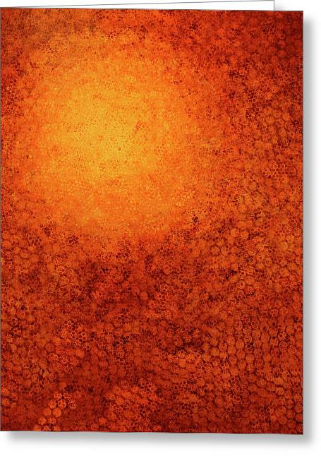 Meditative Greeting Cards - Marigold Greeting Card by Betty OHare
