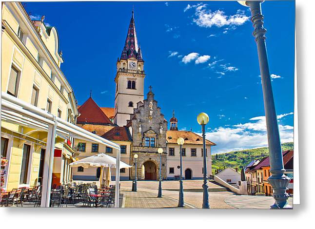Marija Bistrica marianic sanctuary in Croatia Greeting Card by Dalibor Brlek