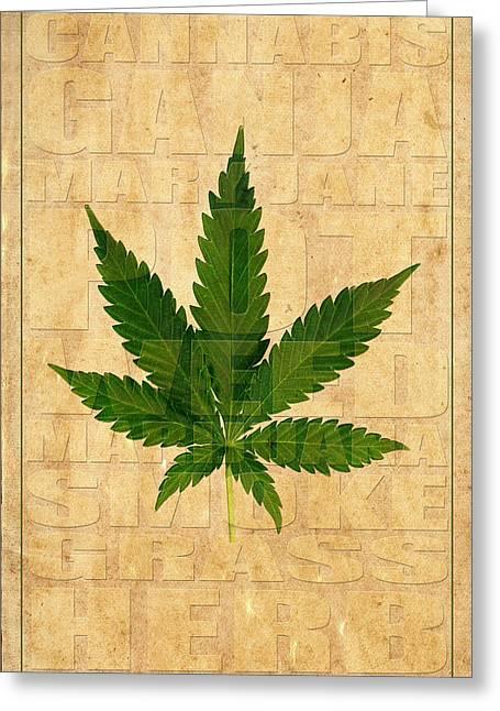 Marijuana Photographs Greeting Cards - Marijuana 1 Greeting Card by Andrew Fare