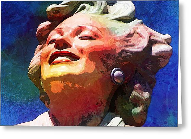 Norma Jean Baker Greeting Cards - Marilyn 12 Greeting Card by Tammera Malicki-Wong
