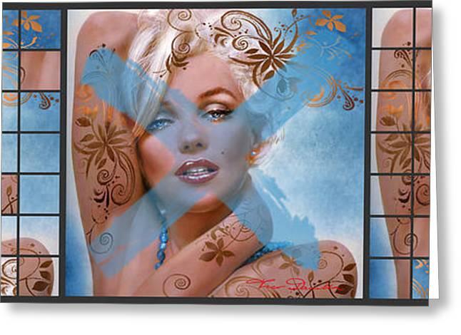 Marilin Greeting Cards - Marilyn 127 Tryp Greeting Card by Theo Danella