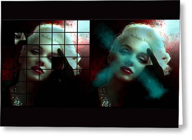 Marilyn 128 Tryp  Greeting Card by Theo Danella