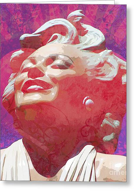Norma Jean Mixed Media Greeting Cards - Marilyn 18 Greeting Card by Tammera Malicki-Wong