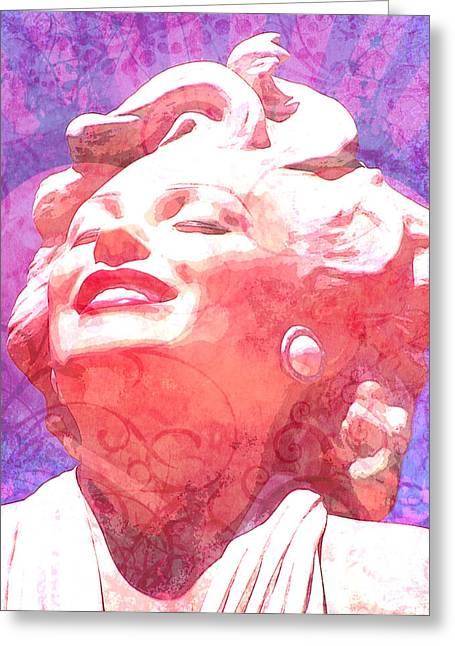 Norma Jean Mixed Media Greeting Cards - Marilyn 20 Greeting Card by Tammera Malicki-Wong
