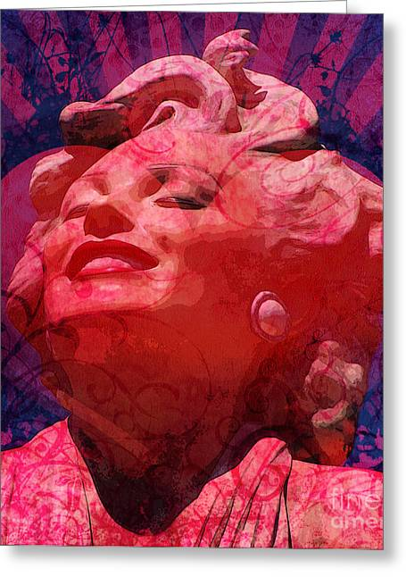 Norma Jean Mixed Media Greeting Cards - Marilyn 22 Greeting Card by Tammera Malicki-Wong
