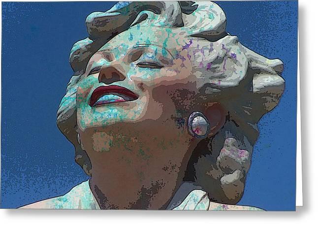 Norma Jean Mixed Media Greeting Cards - Marilyn 26 Greeting Card by Tammera Malicki-Wong