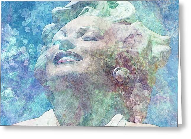 Norma Jean Mixed Media Greeting Cards - Marilyn 30 Greeting Card by Tammera Malicki-Wong