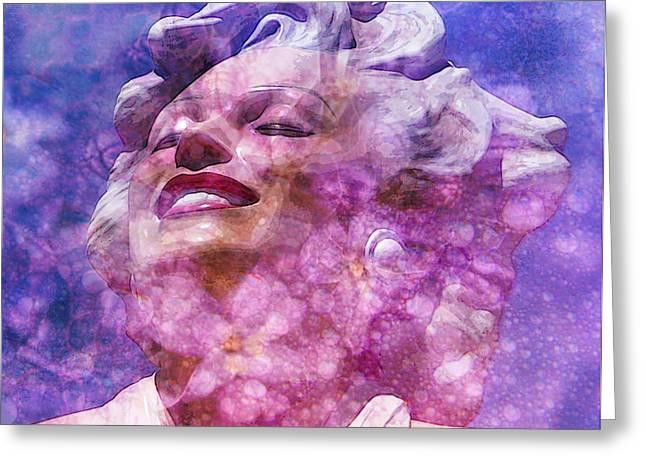 Norma Jean Mixed Media Greeting Cards - Marilyn 44 Greeting Card by Tammera Malicki-Wong