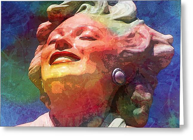 Norma Jean Baker Greeting Cards - Marilyn 5 Greeting Card by Tammera Malicki-Wong