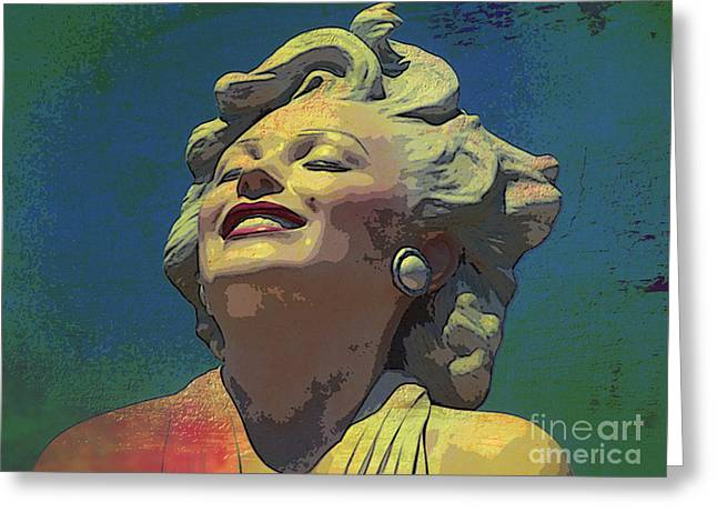 Norma Jean Mixed Media Greeting Cards - Marilyn 51 Greeting Card by Tammera Malicki-Wong