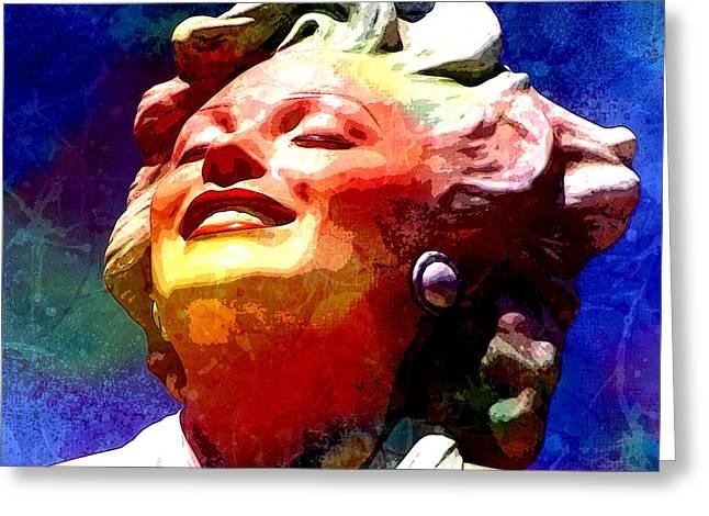 Norma Jean Mixed Media Greeting Cards - Marilyn 6 Greeting Card by Tammera Malicki-Wong