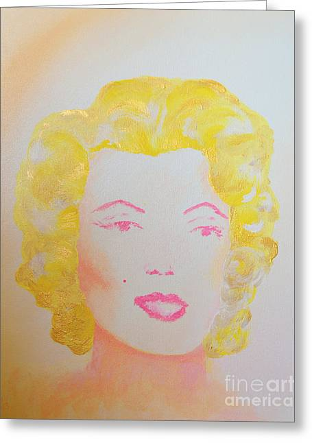 Goddess Greeting Cards - Marilyn Greeting Card by Alys Caviness-Gober