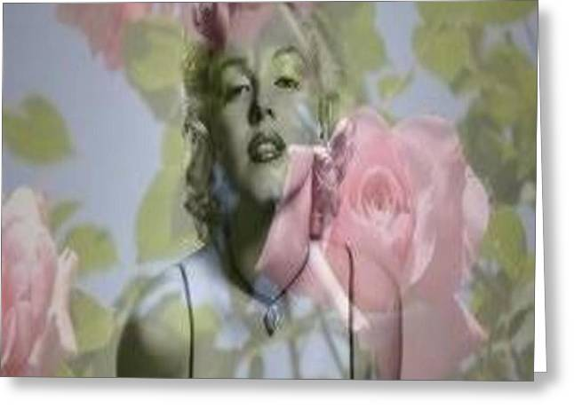 Forgotten Mixed Media Greeting Cards - MARILYN and the BIG SCREEN Greeting Card by PainterArtist FIN