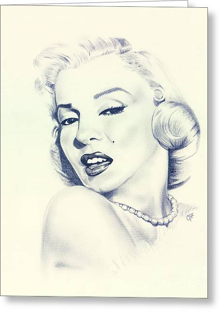 1950s Portraits Greeting Cards - Marilyn Greeting Card by Chanel Fernandez