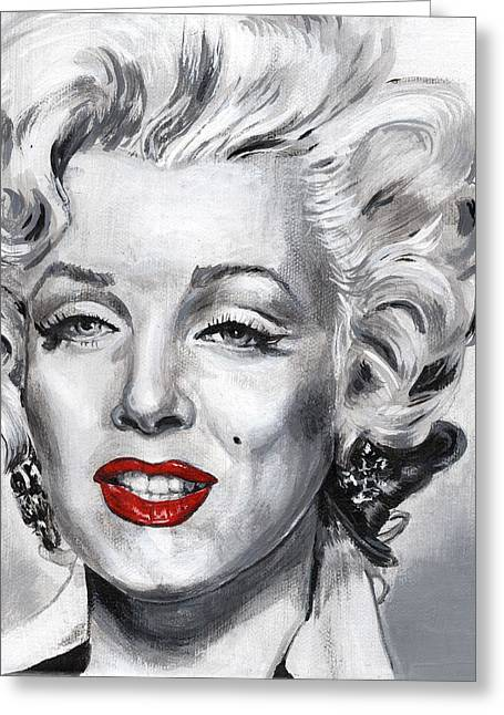 Norma Jean Greeting Cards - Marilyn Greeting Card by Charles  Bickel