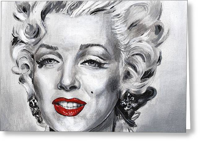 Norma Jean Baker Greeting Cards - Marilyn Greeting Card by Charles  Bickel